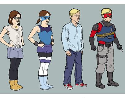 Teen Superhero Character Designs