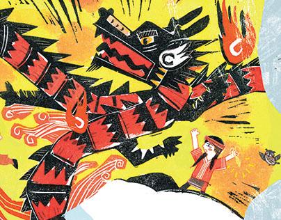 日月潭的传说 (Traditional story illustrations)