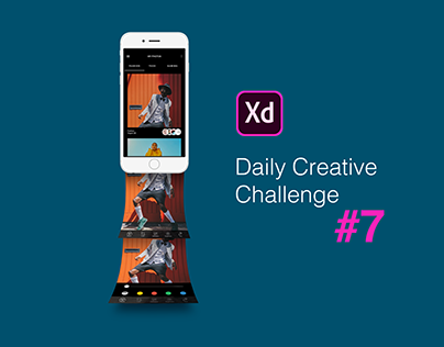 XD Daily Creative Challenge #7 Photo Editing Mobile App