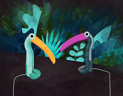 Toucan lamp / illustration series