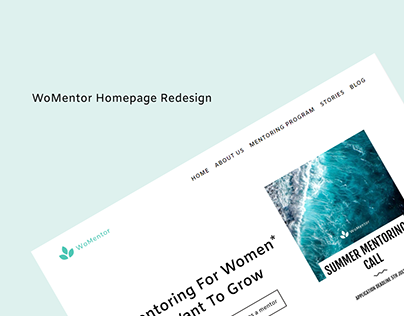 Redesigning the WoMentor landing page