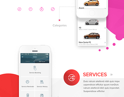 Hyundai Car App Redesign - Services