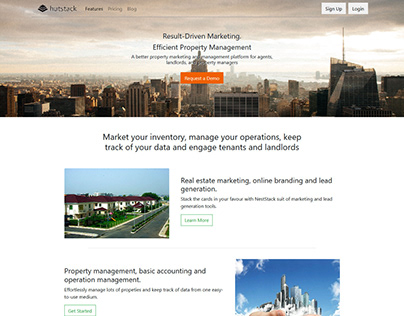 Website design for Hutstack.