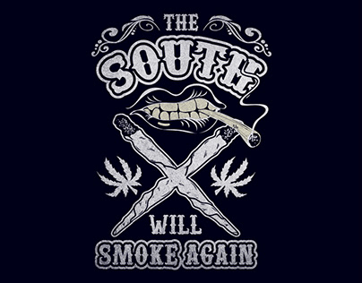 Cool Cannabis T-Shirt Design Item.