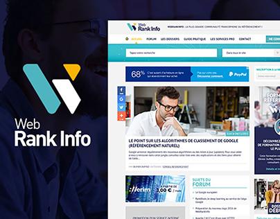 Graphic redesign of WebRankInfo, SEO site