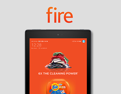 Fire Tablet Wake Screen Display Ad