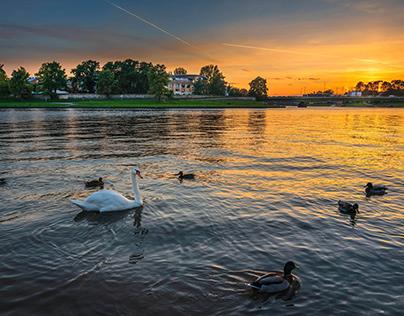 An evening walk around Krakow