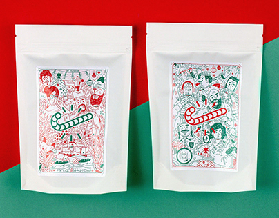 - CANDYCANE - Xmass coffee edition label design