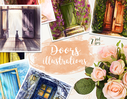 Doors illustrations.