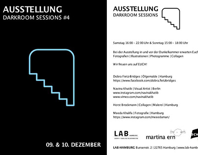 Exhibition Darkroom Sessions #4 2017 at LAB-Hamburg