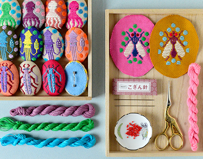 Koginzashi Embroidered Brooches - Part 2