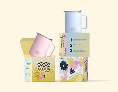 Acqua Bottles: Insulated Mugs Packaging
