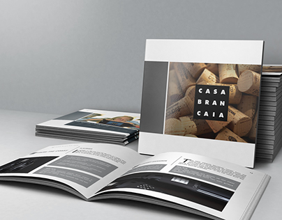 Square brochure for winery
