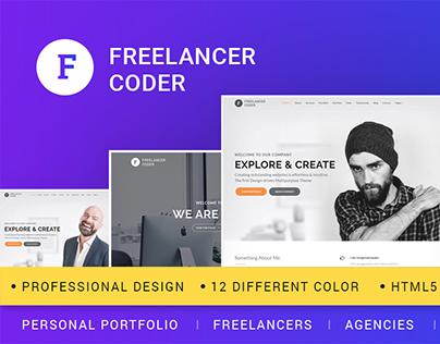 Updated Freelancer Coder HTML Template on ThemeForest