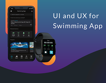 UI and UX for Smartphone and Smartwatch - Swimming App