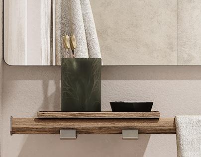 Cozy/modern bathroom