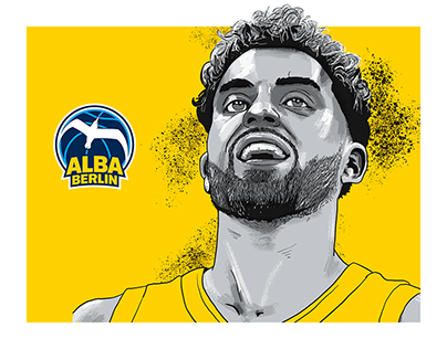 Alba Berlin Basketball Team Illustrations