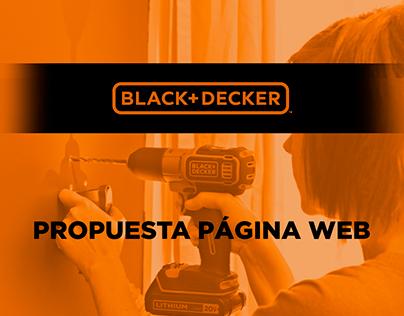 Propuesta Página Web BLACK&DECKER