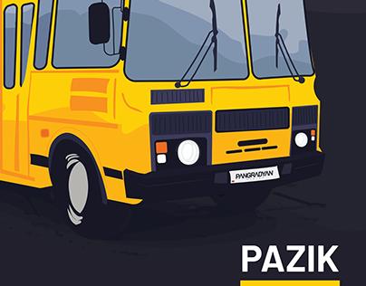 Soviet Cars: PAZ ПАЗ-32053
