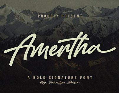 Amertha / Bold Signature Font