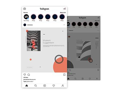 Guggenheim Museum Instagram Posts Design