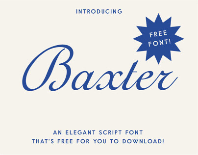 Baxter Script - Free Font / Typeface
