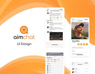 AimChat - corporate messenger. UI development