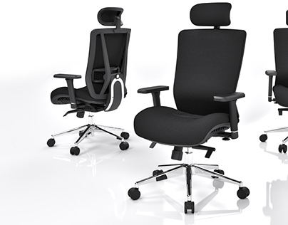 Office chairs rendering