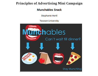 Munchables Snack: Mini Advertising Campaign Plan