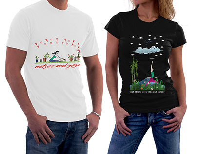 Nature And Yoga T-shirts Bundle