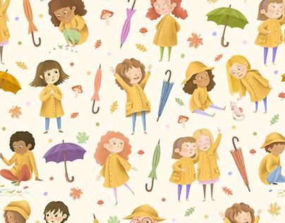 Kids with Raincoats