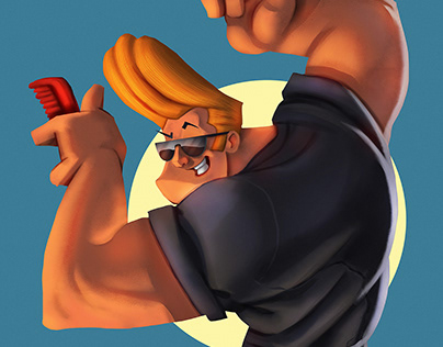 JOHNNY BRAVO - FAN ART
