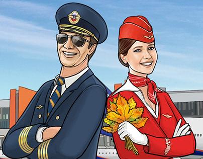 Aeroflot illustrations