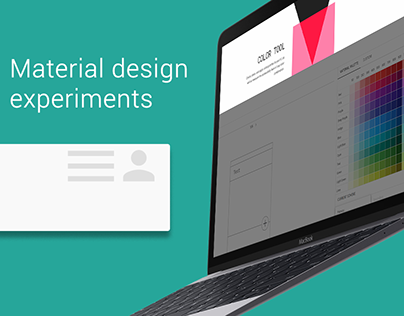 Material design experiments