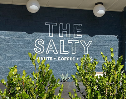 The Salty Donut Handpainted Signage