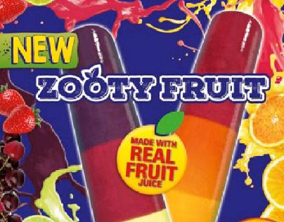 Nestle Zooty Fruit ice cream launch