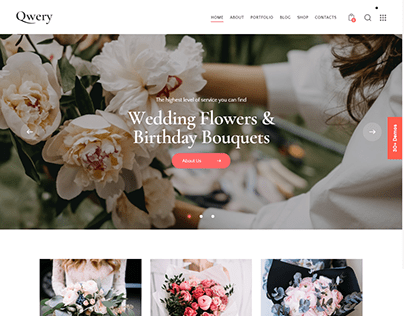 Qwery - Multi-Purpose Business WP Theme: Florist
