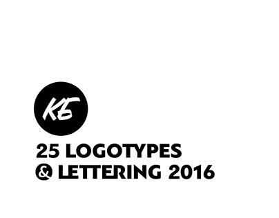 25 Logotypes & lettering 2016