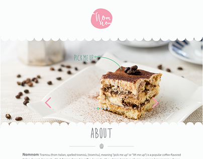 NomNom - One Page Theme