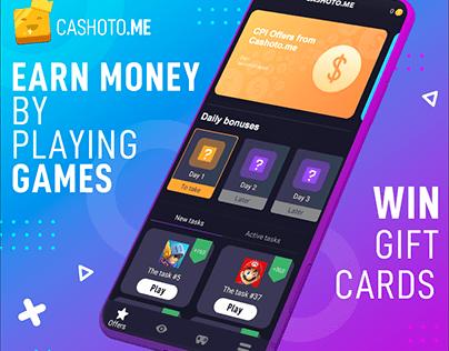 Mobile Reward App Screenshots Design