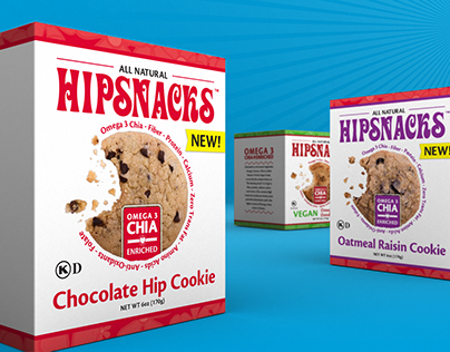 Hipsnacks, Brand Refresh and Packaging Design