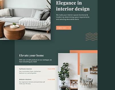 Website Design for Interior Designing Company
