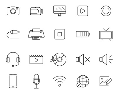 20 Multimedia Vector Icons