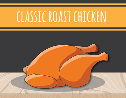"Infographics : How to cook ""Classic roast chicken""."