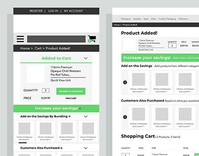 Bundle & Save Discount Wireframe Design + Marketing