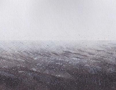 """ink illustration """" black lands"""" collection"""