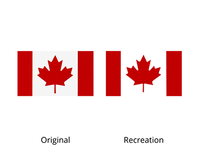 Tracing Canadian Flag