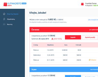 Kup Najisto Customer Portal UI