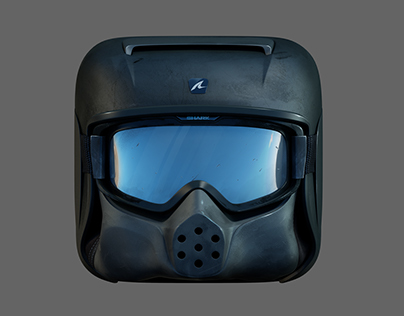 SHARK HELMET APP ICON 3D