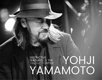 Yohji Yamamoto - fashion designer / UI/UX concept